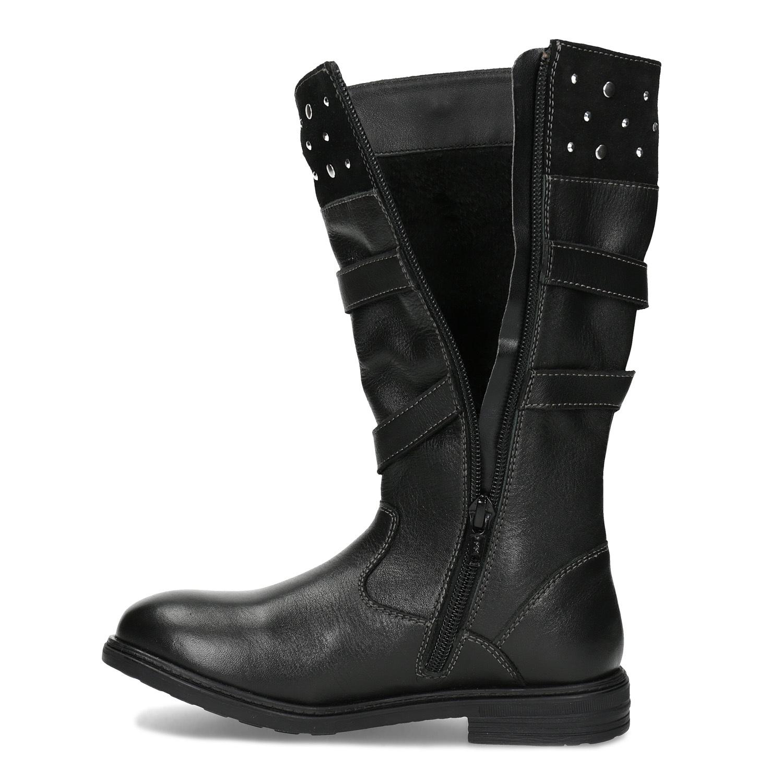 8a2410aa1 Mini B Dievčenské kožené zimné čižmy s cvočkami - Zimná obuv | Baťa.sk