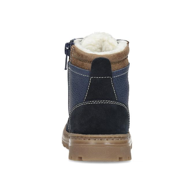 Detské modré kožené zimné topánky mini-b, modrá, 294-9601 - 15