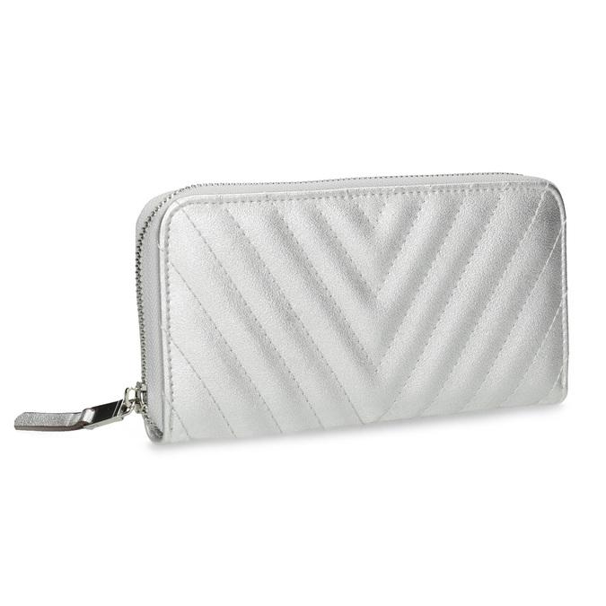 Strieborná prešívaná peňaženka bata, strieborná, 941-1218 - 13