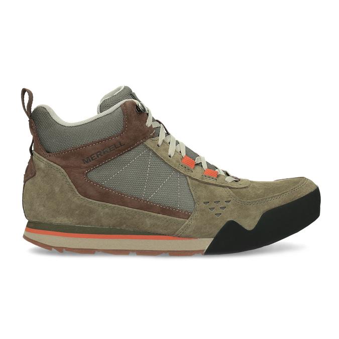 Pánska khaki kožená outdoorová obuv merrell, 803-7104 - 19