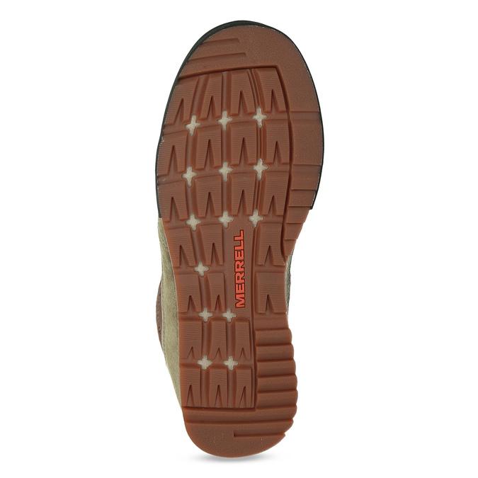 Pánska khaki kožená outdoorová obuv merrell, 803-7104 - 18