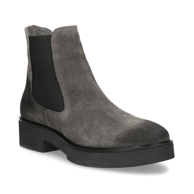 Šedá dámska kožená Chelsea obuv bata, šedá, 593-2617 - 13