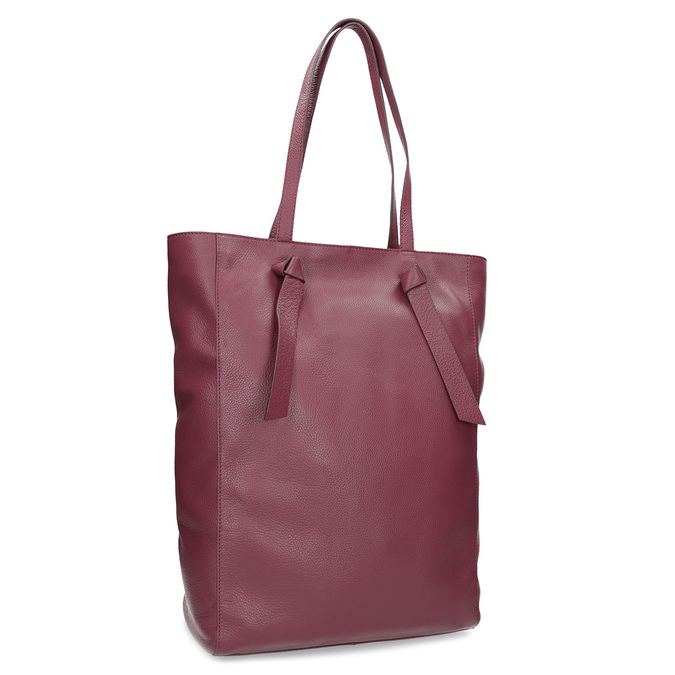 2d6bc1bdcc Bata Vínová kožená dámska kabelka - Kožené kabelky