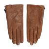 Dámske hnedé prešívané kožené rukavičky bata, hnedá, 904-3108 - 26