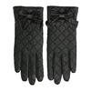 Dámske kožené rukavice prešívané bata, čierna, 904-6139 - 26