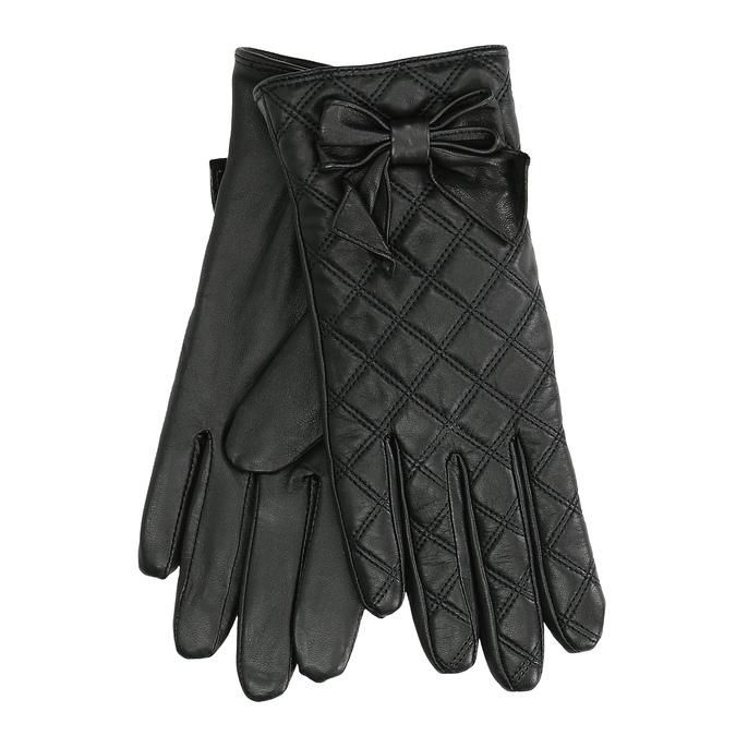 Dámske kožené rukavice prešívané bata, čierna, 904-6139 - 13