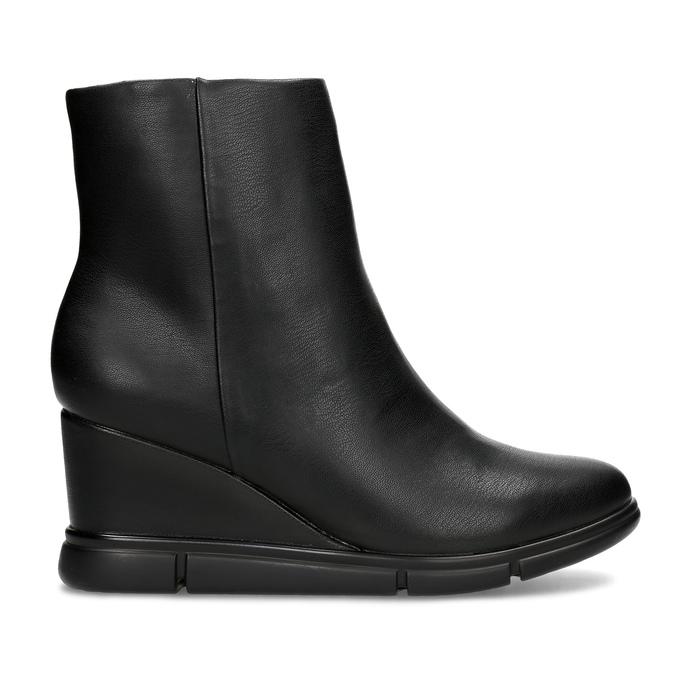Dámska čierna členková obuv na kline bata-b-flex, čierna, 791-6630 - 19