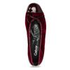 Vínové zamatové balerínky gabor, červená, 629-5106 - 17