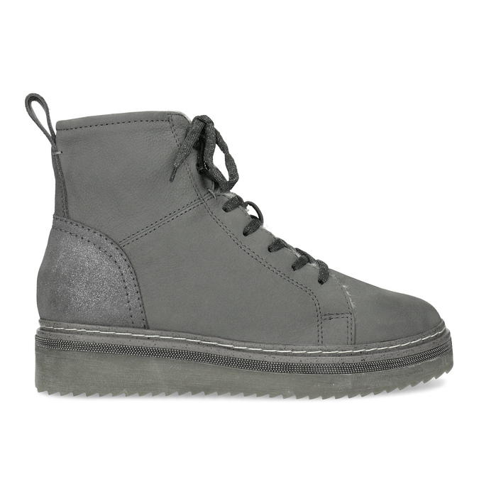 Členková dámska kožená zimná obuv bata, šedá, 596-2713 - 19