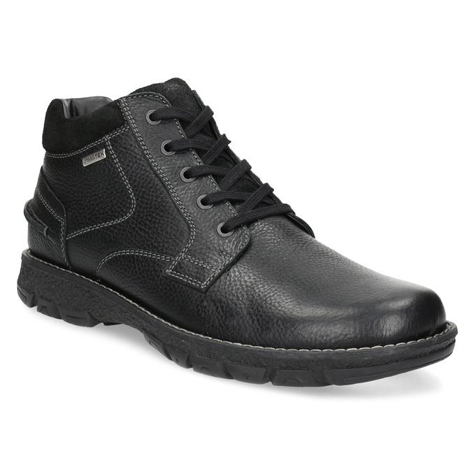 Pánske kožené zimné topánky bata, čierna, 894-6715 - 13