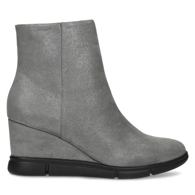 Dámska členková obuv na kline strieborná bata-b-flex, strieborná, 799-2642 - 19