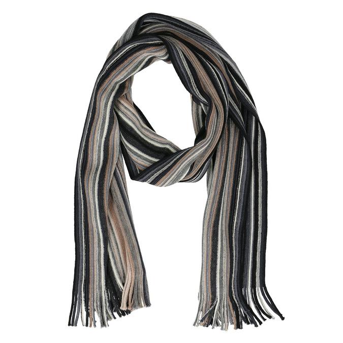 Pánsky béžový šál s prúžkami bata, viacfarebné, 909-8713 - 26