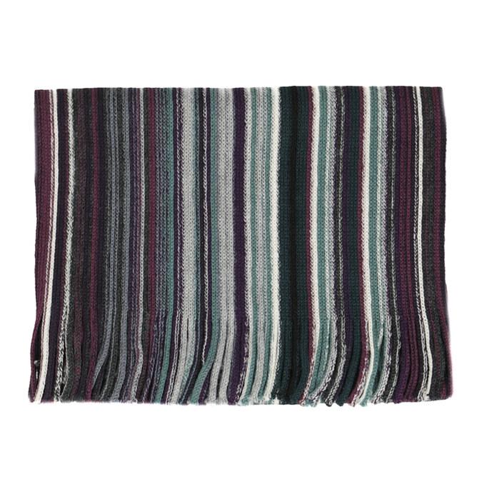 Pánsky zelený šál s prúžkami bata, viacfarebné, 909-5713 - 13