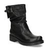 Kožené dámske čižmy s prackou bata, čierna, 594-6719 - 13