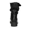 Kožené dámske čižmy s prackou bata, čierna, 594-6719 - 15