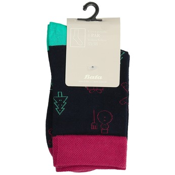 Unisex ponožky s vianočnými motívmi bata, čierna, 919-9775 - 13