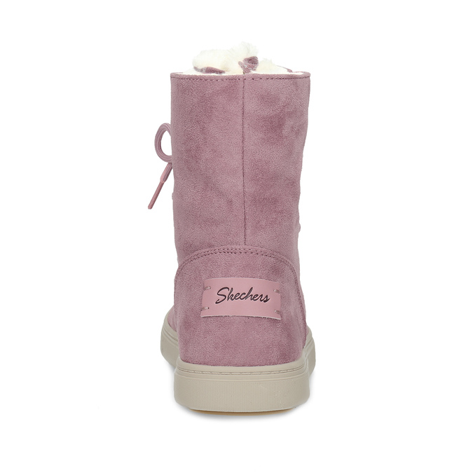 Dámska ružová zimná obuv so zateplením skechers, ružová, 503-5132 - 15