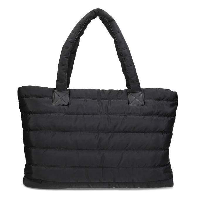 Dámská čierna kabelka s prešitím bata, čierna, 969-6810 - 16