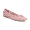 Ružové čipkované baleríny do špičky bata-red-label, ružová, 529-8643 - 13