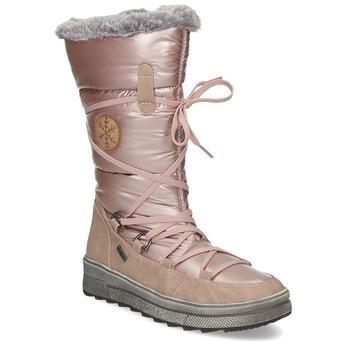 Dámske zimné zlaté snehule bata, ružová, 599-5622 - 13