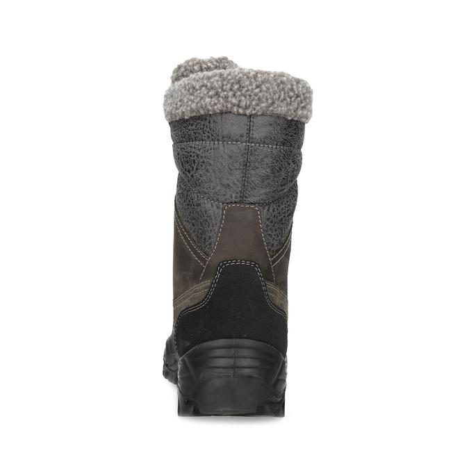 Pánske zimné snehule s kožúškom weinbrenner, hnedá, 896-4730 - 15