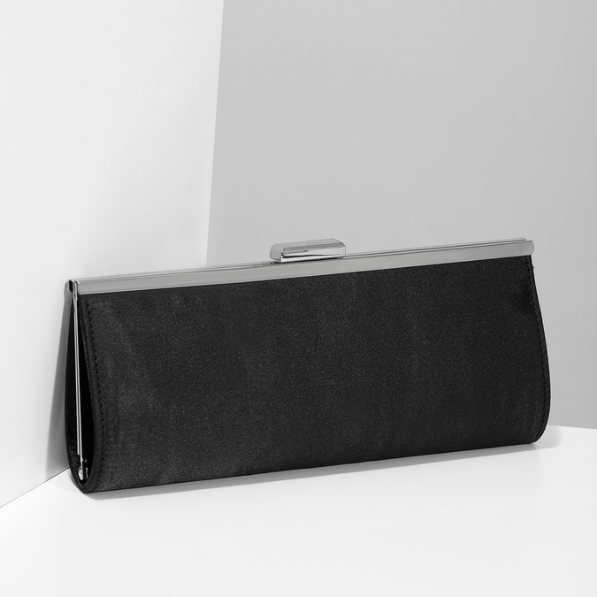Čierna dámska listová kabelka s retiazkou bata, čierna, 969-6811 - 17