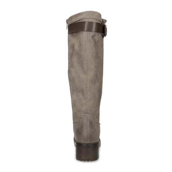 Béžové dámske čižmy s kožúškom bata, hnedá, 691-3643 - 15