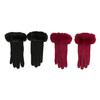 Dámske rukavice s kožúškom bata, viacfarebné, 909-0505 - 26