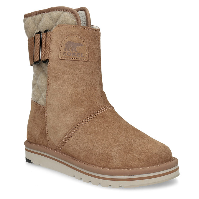 Hnedé dámske kožené topánky sorel, hnedá, 693-3080 - 13