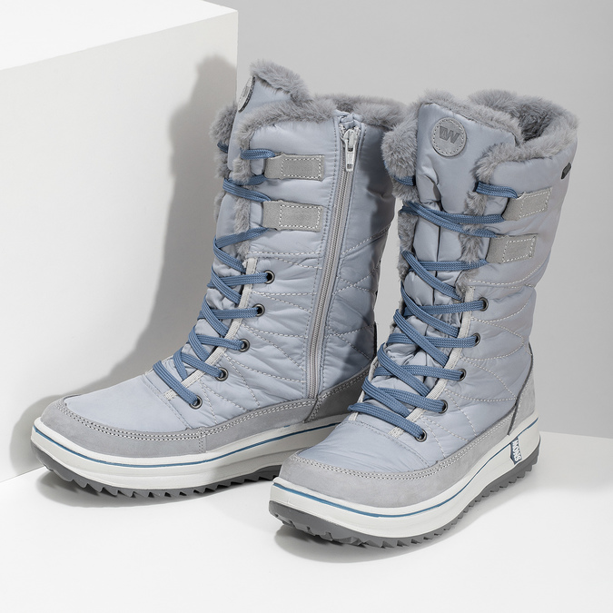 Modré dámske snehule so zateplením weinbrenner, šedá, 599-9631 - 16