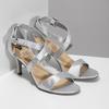 Strieborné sandále na ihličkovom podpätku insolia, strieborná, 729-1633 - 26