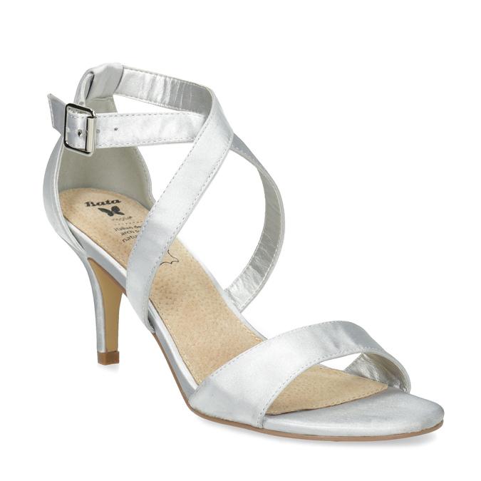 Strieborné sandále na ihličkovom podpätku insolia, strieborná, 729-1633 - 13