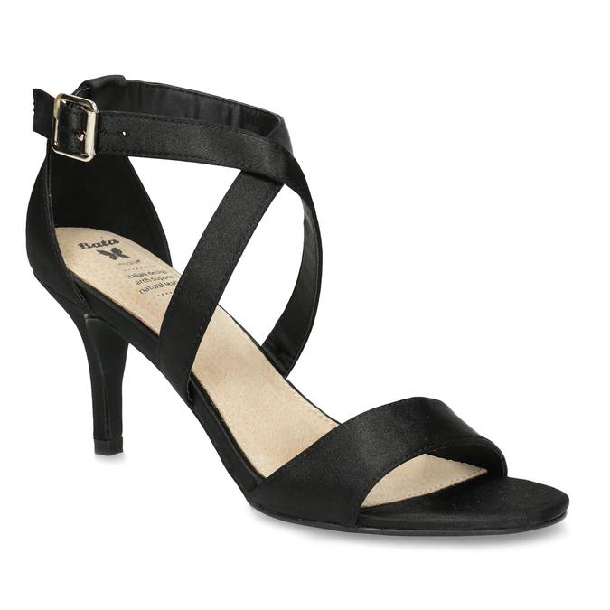 9ff72c039 Čierne sandále na ihličkovom podpätku insolia, čierna, 729-6633 - 13