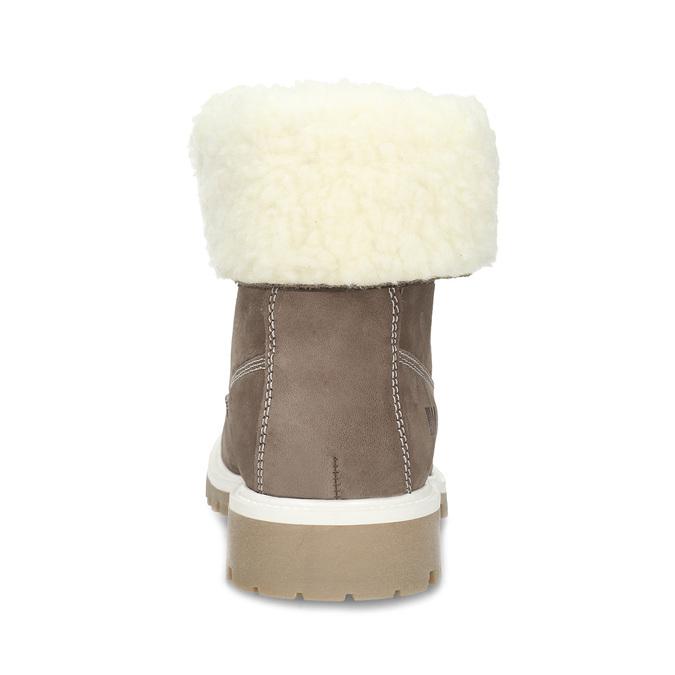 Hnedá dámska kožená zimná obuv weinbrenner, hnedá, 596-4727 - 15