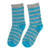 Detské vysoké pruhované ponožky bata, šedá, 919-2686 - 16