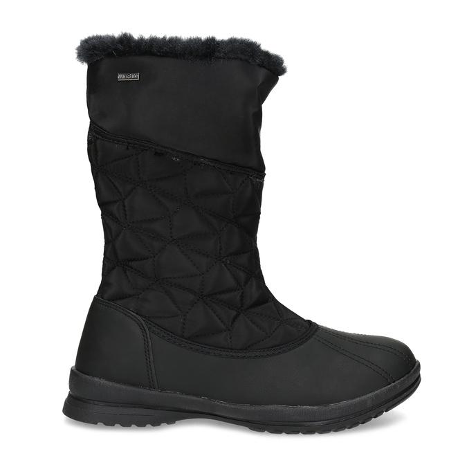 Dámska čierna zimná obuv s prešívaním bata, čierna, 599-6624 - 19