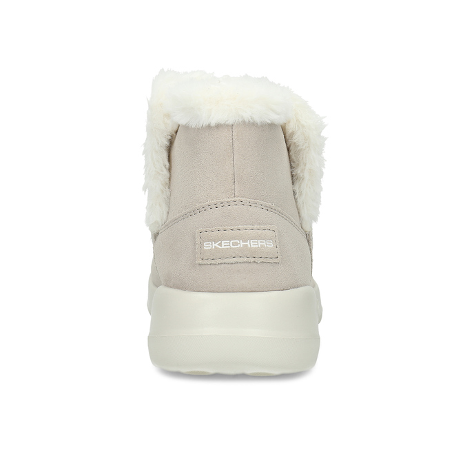 Kožená zimná obuv s kožúškom béžová skechers, béžová, 503-8124 - 15
