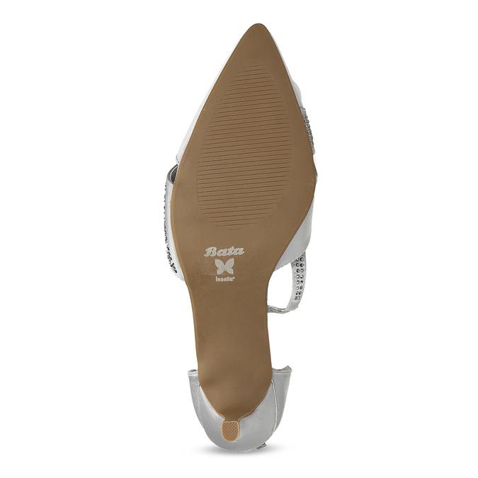 Strieborné dámske sandále na ihličkovom podpätku insolia, strieborná, 729-1634 - 18