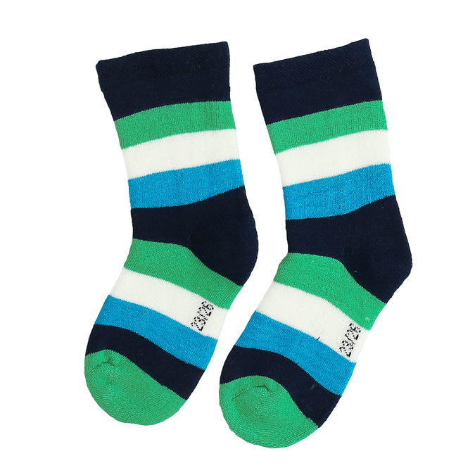 Detské vysoké ponožky s prúžkami bata, zelená, 919-7688 - 26
