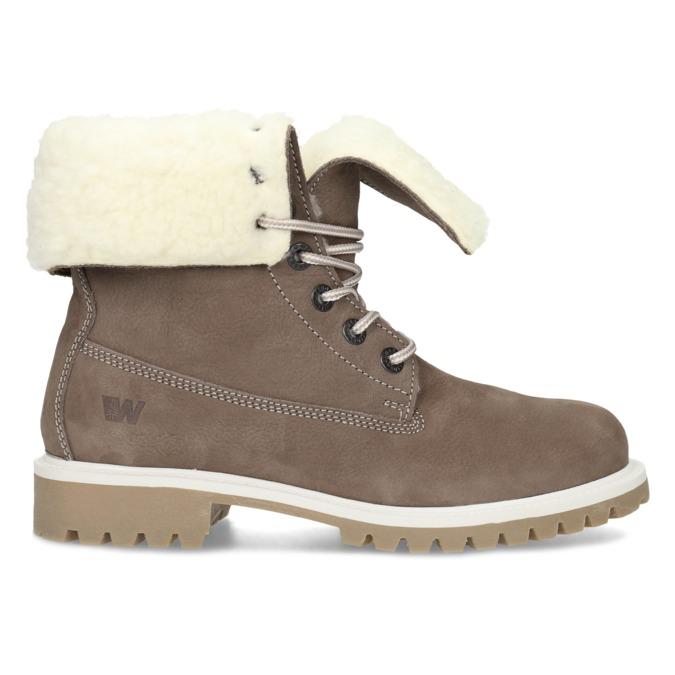 Hnedá dámska kožená zimná obuv weinbrenner, hnedá, 596-4727 - 19