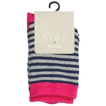 Detské vysoké pruhované ponožky bata, šedá, 919-2688 - 13