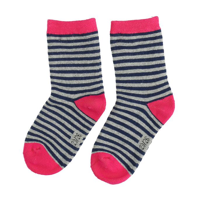 Detské vysoké pruhované ponožky bata, šedá, 919-2688 - 26
