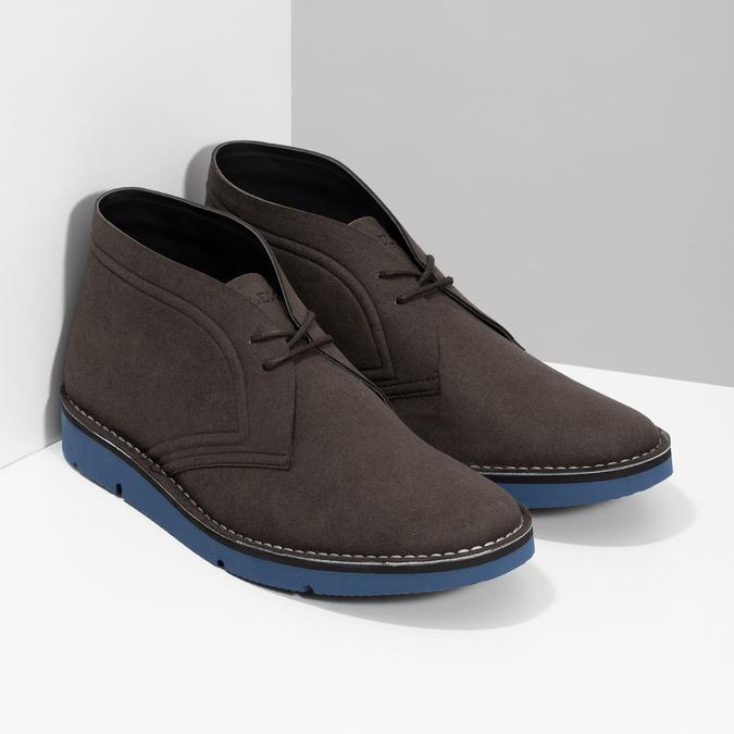 Hnedá pánska členková obuv bata-b-flex, hnedá, 899-4600 - 26