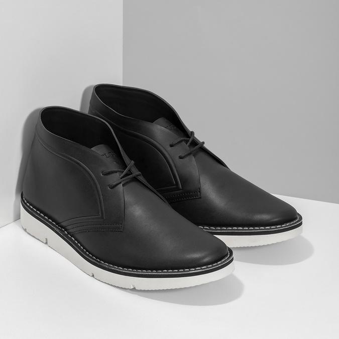 Čierna pánska členková obuv bata-b-flex, čierna, 899-6601 - 26