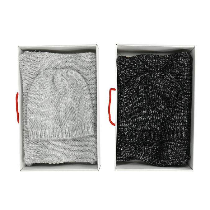 Sada pleteného šálu a čiapky bata, viacfarebné, 909-0141 - 13
