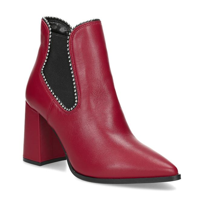 Červené členkové čižmy v Chelsea štýle bata, červená, 794-5609 - 13