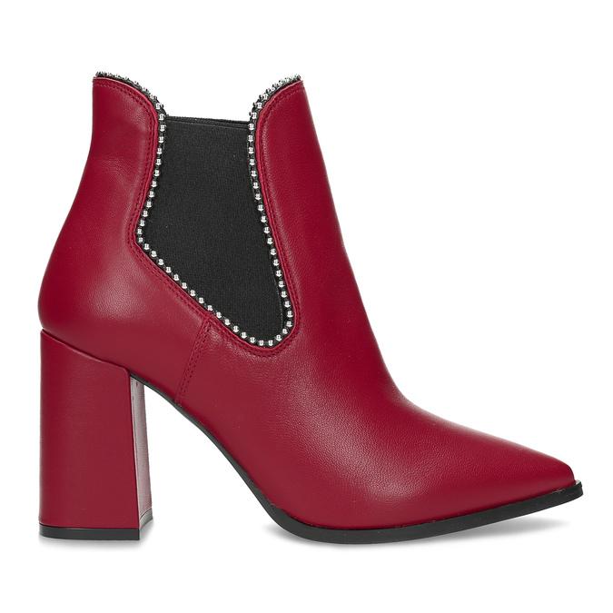 Červené členkové čižmy v Chelsea štýle bata, červená, 794-5609 - 19