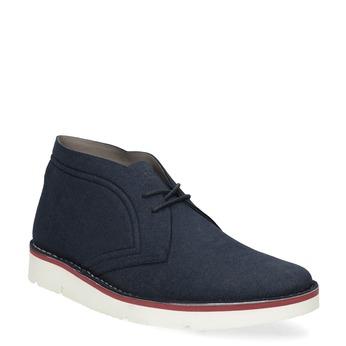 Modrá pánska ležérna členková obuv bata-b-flex, modrá, 899-9600 - 13