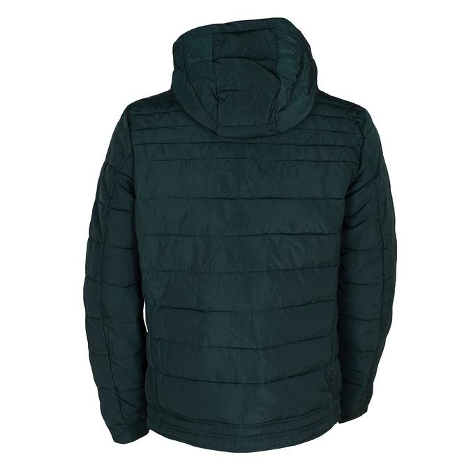 Zelená pánska bunda s prešitím bata, zelená, 979-7430 - 26