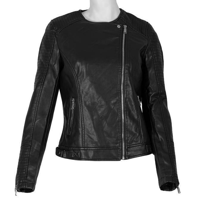 Čierna dámska bunda s asymetrickým zipsom bata, čierna, 971-6215 - 13